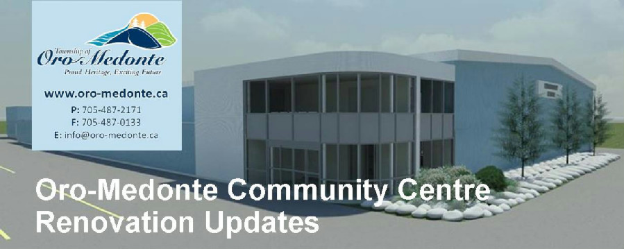Oro-Medonte Community Centre Renovation Update